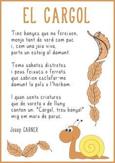 Poema elcargol by Laia Lila via slideshare Spanish Teacher, Spanish Class, Ferrat, Teaching English, Valencia, Poetry, College, Album, School