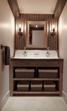 Trough Sink With 3 Faucets - Design photos, ideas and inspiration. Amazing gallery of interior design and decorating ideas of Trough Sink With 3 Faucets in bathrooms by elite interior designers - Page 2 Metal Building Homes, Metal Homes, Building A House, Building Ideas, Building Plans, Bad Inspiration, Bathroom Inspiration, Bathroom Ideas, Bathroom Plans