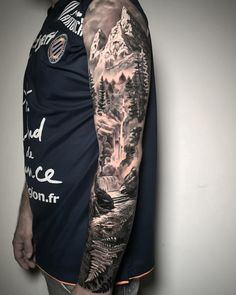- # - Tattoo-Ideen - # Ideen - - # - Tattoo Ideen - # Ideen - - tattoo for men tattoos tattoo tattoo japones tattoo tattoo traditional Mountain Sleeve Tattoo, Forest Tattoo Sleeve, Nature Tattoo Sleeve, Wolf Tattoo Sleeve, Forest Tattoos, Forearm Sleeve Tattoos, Best Sleeve Tattoos, Sleeve Tattoos For Women, Tattoo Sleeve Designs