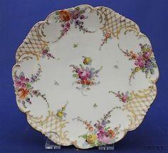 1893-1930-Hand-Painted-Franziska-Hirsch-Porcelain-Dresden-Sprays-7-Desert-Plate