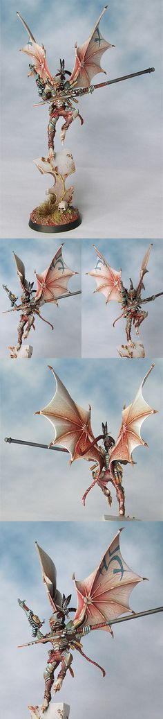 CoolMiniOrNot - Dark Eldar Scourge by  Now this takes talent
