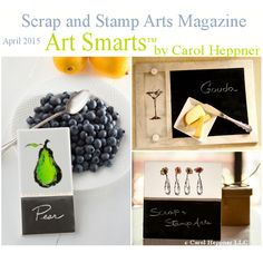 Chalkboard Tiles by Carol Heppner - Visit Scrap and Stamp Arts Magazine for the instructions to make these trendy Chalkboard Tile projects. Photography and Projects by Carol Heppner LLC Spray Paint Crafts, Spray Paint Projects, Tile Projects, Chalkboard Spray Paint, Magazine Art, Magnetic Boards, Tiles, Scrap, Painting
