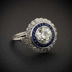WOW! 1.66ct Floral Estate Diamond Engagement Ring by Estate Diamond Jewelry