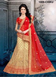 4db01c9c4 Buy Net Chiku Heavy Embroidery Lehenga Choli Banarasi Lehenga