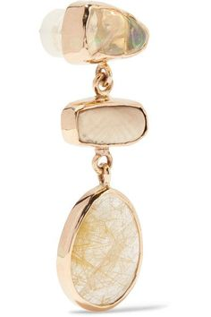Melissa Joy Manning - 14-karat Gold Multi-stone Earrings - one size