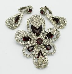 Vintage Kramer Brooch Earring Set Elegant Holiday by HeirloomBandB, $110.00
