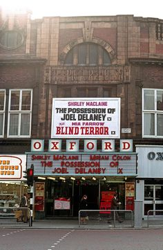 The Oxford cinema (also called the New Oxford) on Oxford Street, formerly The Picture House, in September 1972. [3887]