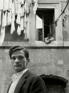 Herbert LIST :: Italian writer and film-director, Pier Paolo Pasolini / Trastevere, Rome, Italy Herbert List, Modern Photography, Artistic Photography, Street Photography, Photographie Leica, Pier Paolo Pasolini, Werner Herzog, Fritz Lang, Writers And Poets