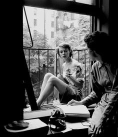 Jean and Eileen Ford, photo by Nina Leen, New York City, July 1948 by dovima_is_devine_II, via Flickr