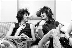 New Barbarians – Keith Richards & Ronnie Wood, 1979. ©Michael Putland