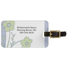 Periwinkle and Green Bridesmaid's Luggage Tag