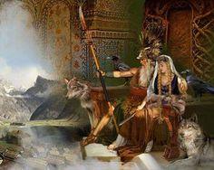 Odin the Allfather and Frigg Quem of Asgard- Art by howard David Johnson – Norse Mythology-Vikings-Tattoo Loki, Thor, Norse Pagan, Norse Mythology, Russian Mythology, Odin Allfather, Image Blog, Asatru, Norse Vikings