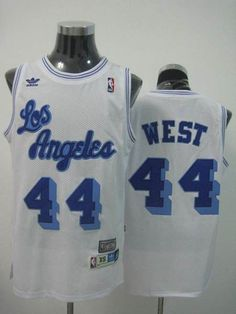 a060304397e Mitchell and Ness Lakers  44 Jerry West Stitched White Throwback NBA Jersey  Throwback Nba Jerseys
