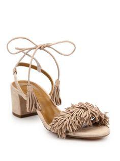 Aquazzura - Wild Thing Fringed Suede Sandals