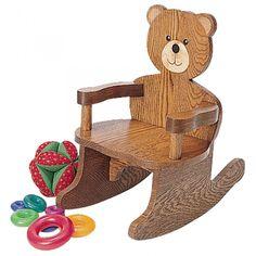 Teddy Bear Rocking Chair Plan : rockler -  $8.39 #diy #Christmas #toddlers