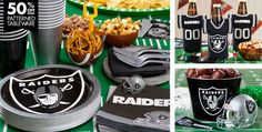 NFL Oakland Raiders Party Supplies - Party City 10% off ...only need 1 set