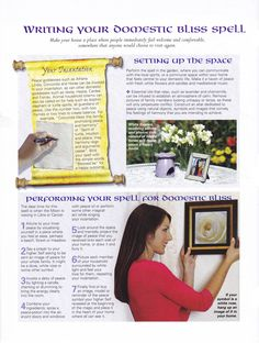 Writing your domestic bliss spell