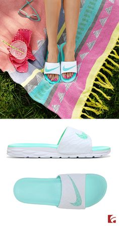 Summertime style is all about ease. And it doesn't get much better than these Nike slides! Whether you're running around town or just lounging around, these simple sandals will be the perfect companion.