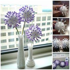 DIY NATALIE: Q-Tip Flowers (tutorial for bridal shower decor idea)