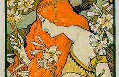 Paul Berthon, art nouveau,vintage,poster,chic,elegant,beautiful