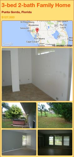 3-bed 2-bath Family Home in Punta Gorda, Florida ►$127,500 #PropertyForSale #RealEstate #Florida http://florida-magic.com/properties/84492-family-home-for-sale-in-punta-gorda-florida-with-3-bedroom-2-bathroom