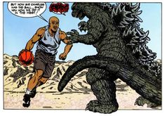 Godzilla vs Barkley (1993) - Jeff Butler, Inks: Keith Aiken, Colors: James Sinclair