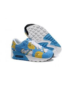 online store b955a f0893 Kids Nike Air Max 90 White Blue Yellow Shoes UK Outlet