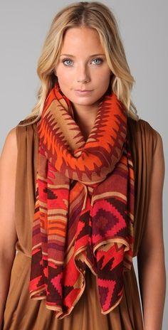 Navajo blanket scarf