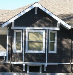 I have had many clients in the past tell me they want a bay window. Sometimes I have been a bit reluctant to the idea because I have seen s. Dark House, House Siding, Elegant Homes, Bay Window, Curb Appeal, Craftsman, Tiny House, Bungalows, Shed