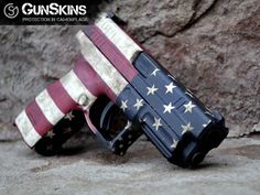 Love America? Show your support of the 2nd Amendment by wrapping your pistol in red, white, & blue. #gunskins