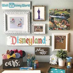 """3,925 Likes, 45 Comments - Disney At Home (@disney_at_home) on Instagram: """"We are so in love with our friend @tinagoodmandesigns workspace and gallery wall!! Perfection!…"""""""