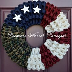 Rustic U.S. Marine Corps Wreath No Bow  by CreativWreathConcept