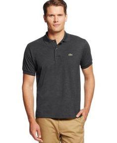 Lacoste Men's Pique Polo  - Gray 3XL