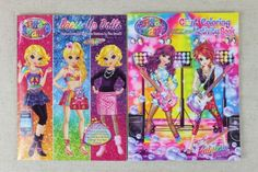 LISA-FRANK-Diva-Fashions-DRESS-UP-PAPER-DOLL-w-Stickers-Giant-Activity-Coloring