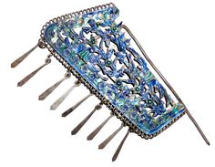 Enameled  and silver hair stick Manchu early 20th c (archives sold Singkiang) collection Truus and Joost Daalder