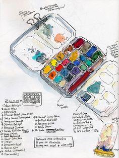 July 2012: Current Palette Set-Up by apple-pine, via Flickr