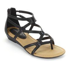 sole (sense)ability Black Gladiator Sandals - Women