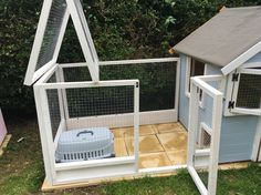 Rabbit Guinea pig boarding playhouse. A hutch is not enough.