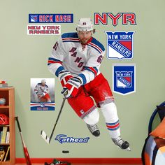 Rick Nash, New York Rangers...I will resist the urge to buy this for Nick's room.,