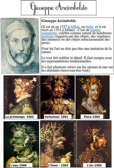 Arts And Crafts For Kids Refferal: 1987545392 Art History Lessons, Art Lessons, L'art Du Portrait, Portraits, Giuseppe Arcimboldo, Classe D'art, History Of Wine, Art Worksheets, Ecole Art