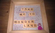 Disney Alice In Wonderland Cheshire Cat Lego Minifigure Scrabble Take Me To Wonderland Quote. Handmade. Handpainted. Krafter Dark
