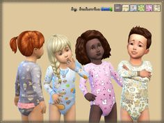 Created By bukovka Kombidress Baby Created for: The Sims 4 Toddler Clothes for both sexes. Installed autonomously a new mesh, 6 coloring options. http://www.thesimsresource.com/downloads/1365676