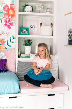 Take your girl's bedroom from tween through teen without breaking the bank. via Take your girl's bedroom from tween through teen without breaking the bank. Big Girl Bedrooms, Girls Bedroom, Bedroom Decor, Bedroom Layouts, Decorating On A Budget, Home Decor Inspiration, Home Projects, Diy Home Decor, Tween