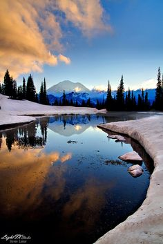 Tipsoe Sunset | Mt. Rainier