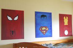 Superhero bedroom Jordan's going to love this