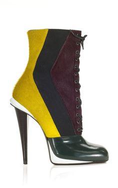 victorian color-block pony hair bootie fendi f/w2012 moda operandi