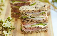 Ham & Chutney Sandwiches   Tea Time Recipes and Things