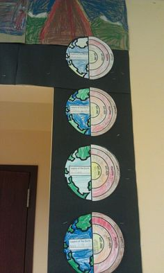 Layers of the Earth student art.