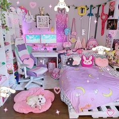 Girl Bedroom Designs, Room Ideas Bedroom, Bedroom Decor, Cute Room Ideas, Cute Room Decor, Study Room Decor, Pastel Room, Pink Room, Gaming Room Setup