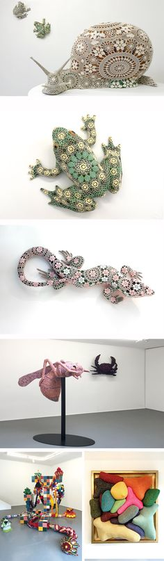 Between dream and reality. Amazing sculptures from Joana Vasconcelos on view in Gstaad at Patricia Low Contemporary. Sculptures, Posts, Contemporary, Amazing, Creative, Artwork, Blog, Design, Messages